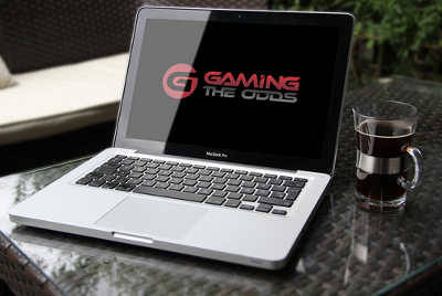 Gaming the Odds Logo on a Laptop