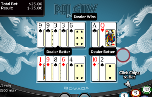 Playing pai-gow poker for real money at Bovada's excellent online casino.