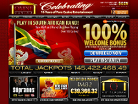 South Africa Online Casino's Website
