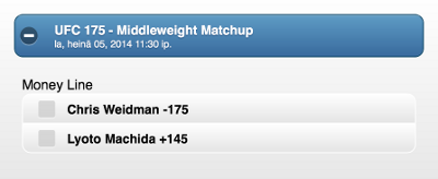 The bout between Chris Weidman and Lyoto Machida is a close contest.