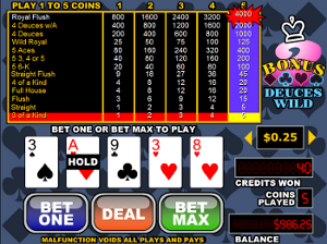 How to play video poker and win real money.