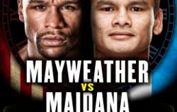 Poster for Mayweather vs Maidana
