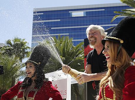 Richard Branson Virgin Atlantic Hard Rock Hotel and Casino Las Vegas