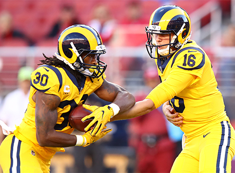 2018 NFL Win Totals Los Angeles Rams Jared Goff Todd Gurley