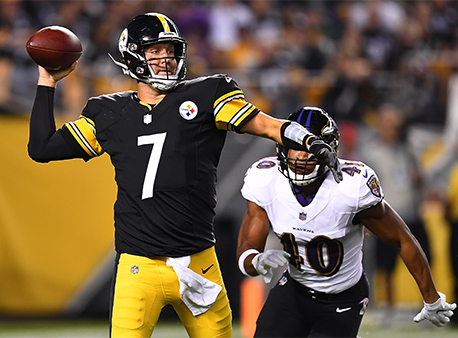 Ben Roethlisberger Pittsburgh Steelers Baltimore Ravens NFL Betting Week 9