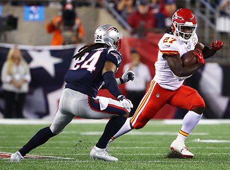 Kareem Hunt Stephon Gilmore New England Patriots Kansas City Chiefs NFL Betting