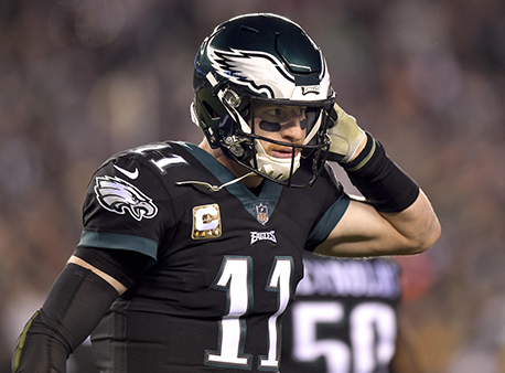 Carson Wentz Philadelphia Eagles NFL Betting Week 11