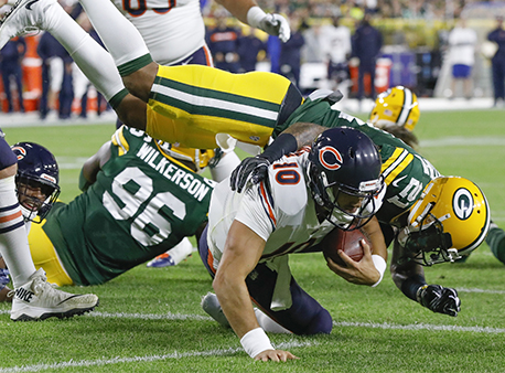Mitch Trubisky Chicago Bears Green Bay Packers NFL Betting Week 15