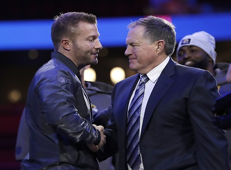 Sean McVay, Los Angeles Rams, Bill Belichick, New England Patriots, Super Bowl 53, Super Bowl props
