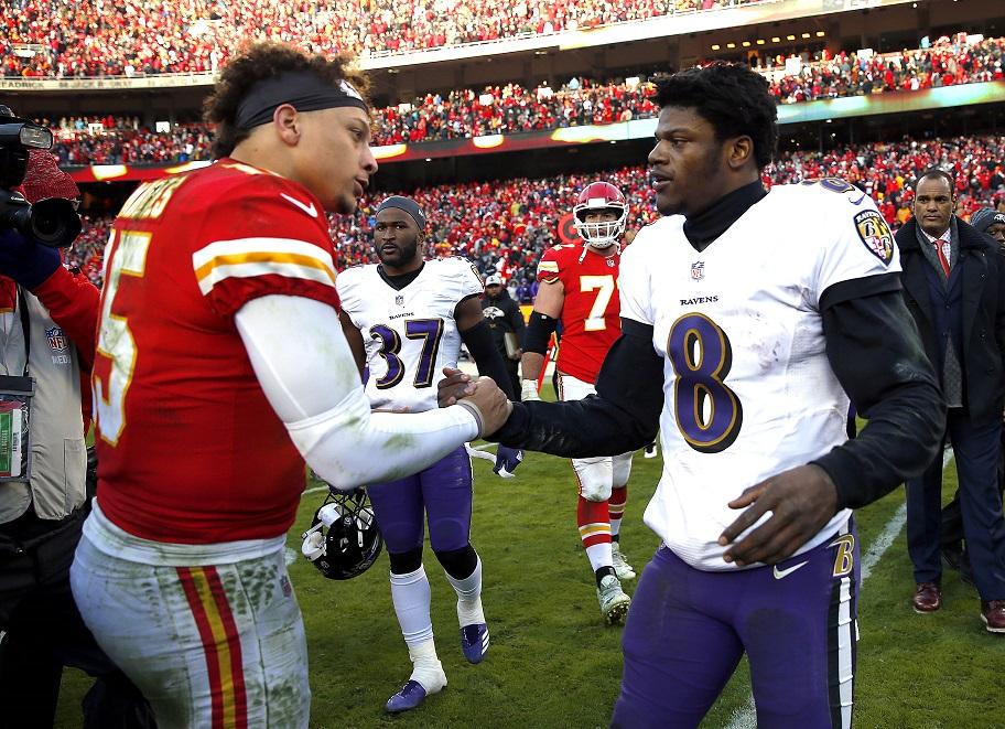 NFL Betting, Patrick Mahomes, Kansas City Chiefs, Lamar Jackson, Baltimore Ravens